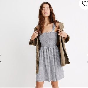 Madewell Texture and Thread Cotton Stripe Dress